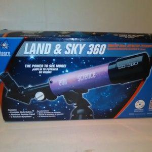 EDU SCIENCE LAND & SKY 360 Tabletop 50mm Telescope